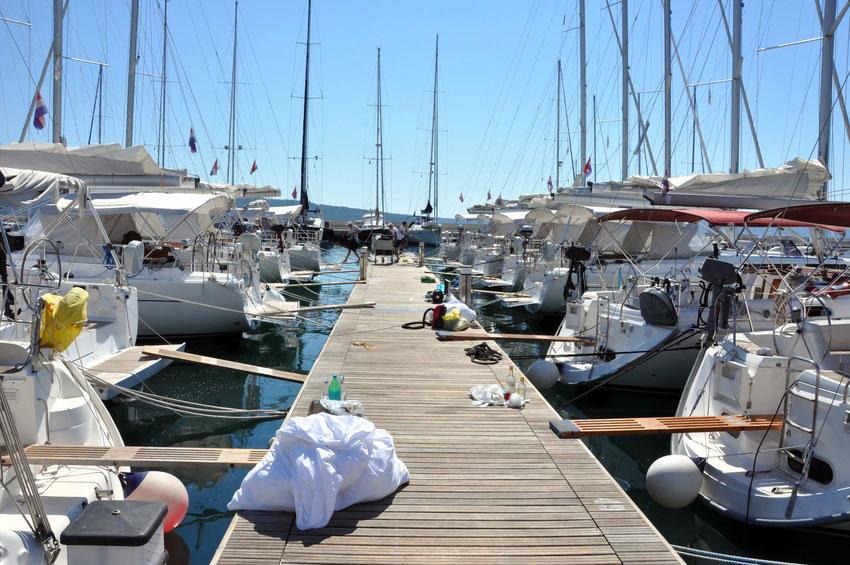 préparation bateau